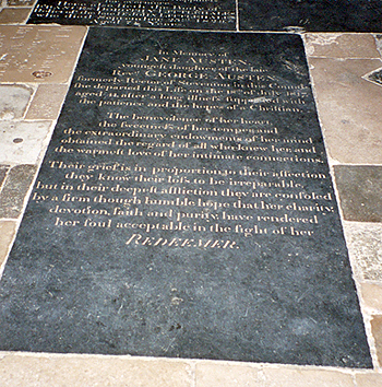 Photo of Jane Austen's Grave