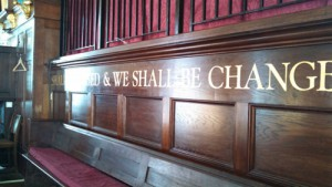 Photo of St. Paul's Church Pew