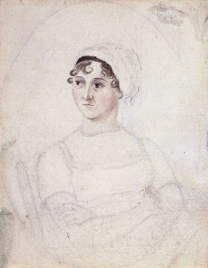 Pencil/watercolor sketch by Cassandra Austen, c.1810