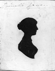 "Silhouette of ""L'aimable Jane"" by unknown artist"