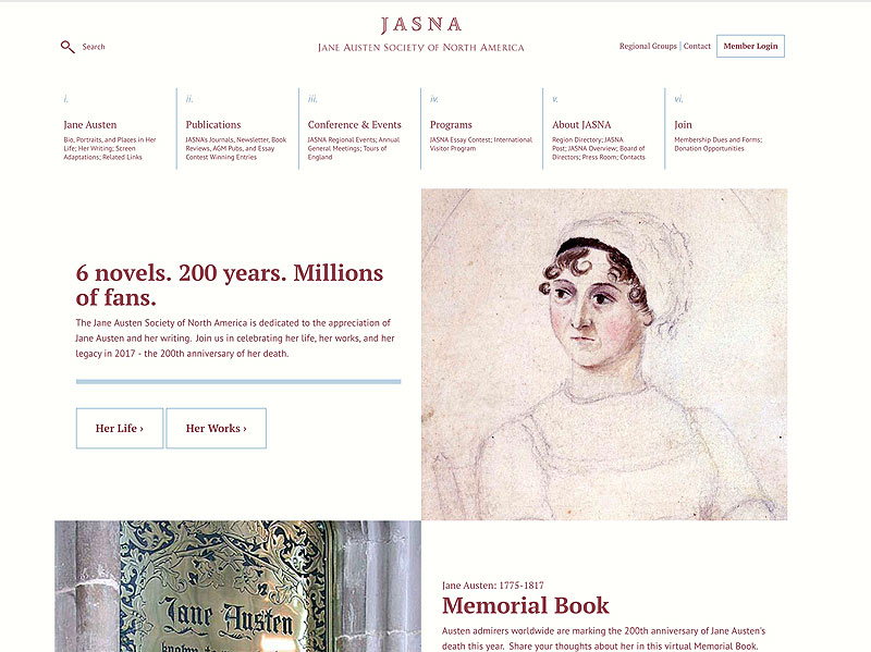 Welcome to the New JASNA.org!