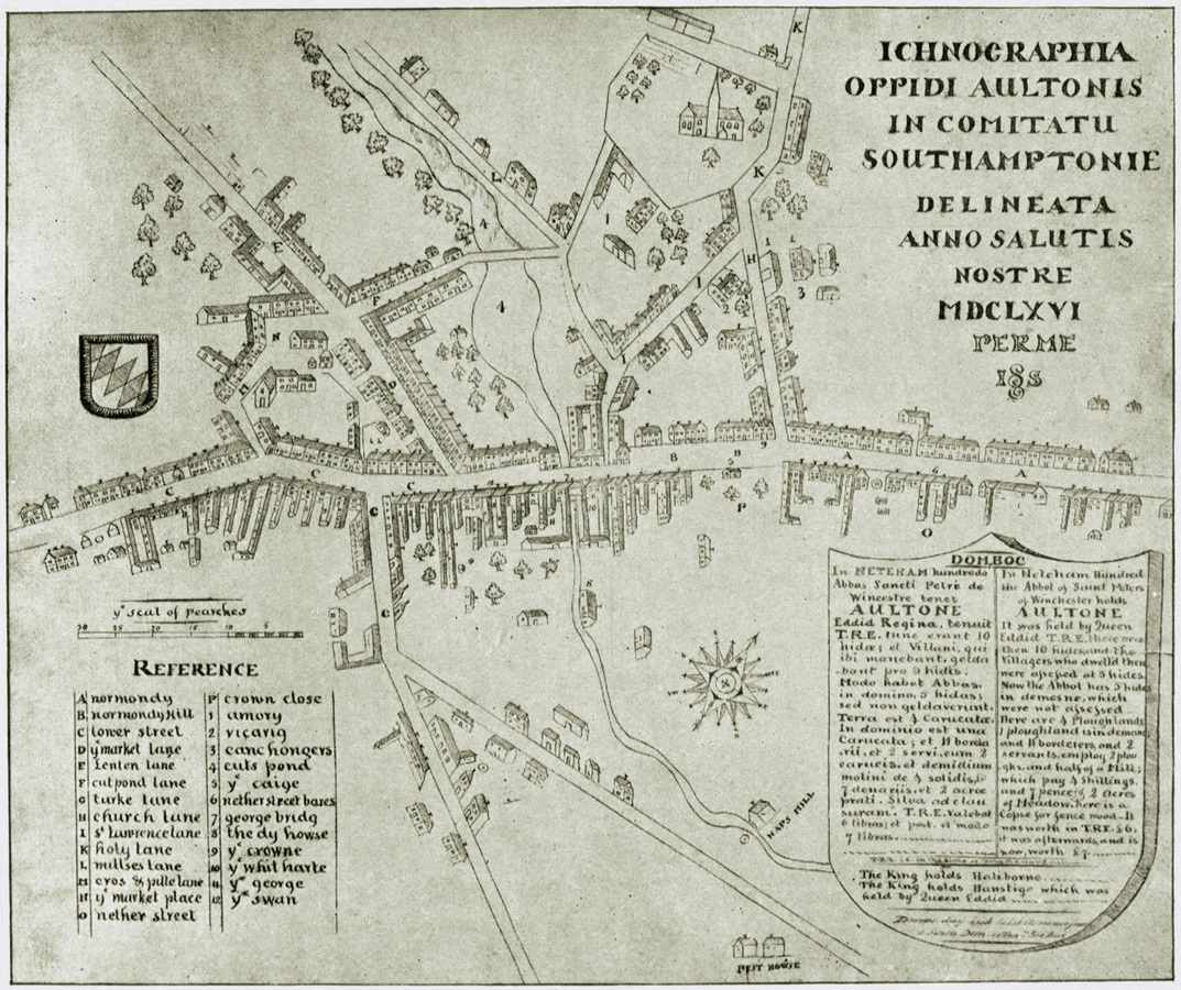 penny gay map of alton in 1666 click on image to see larger version