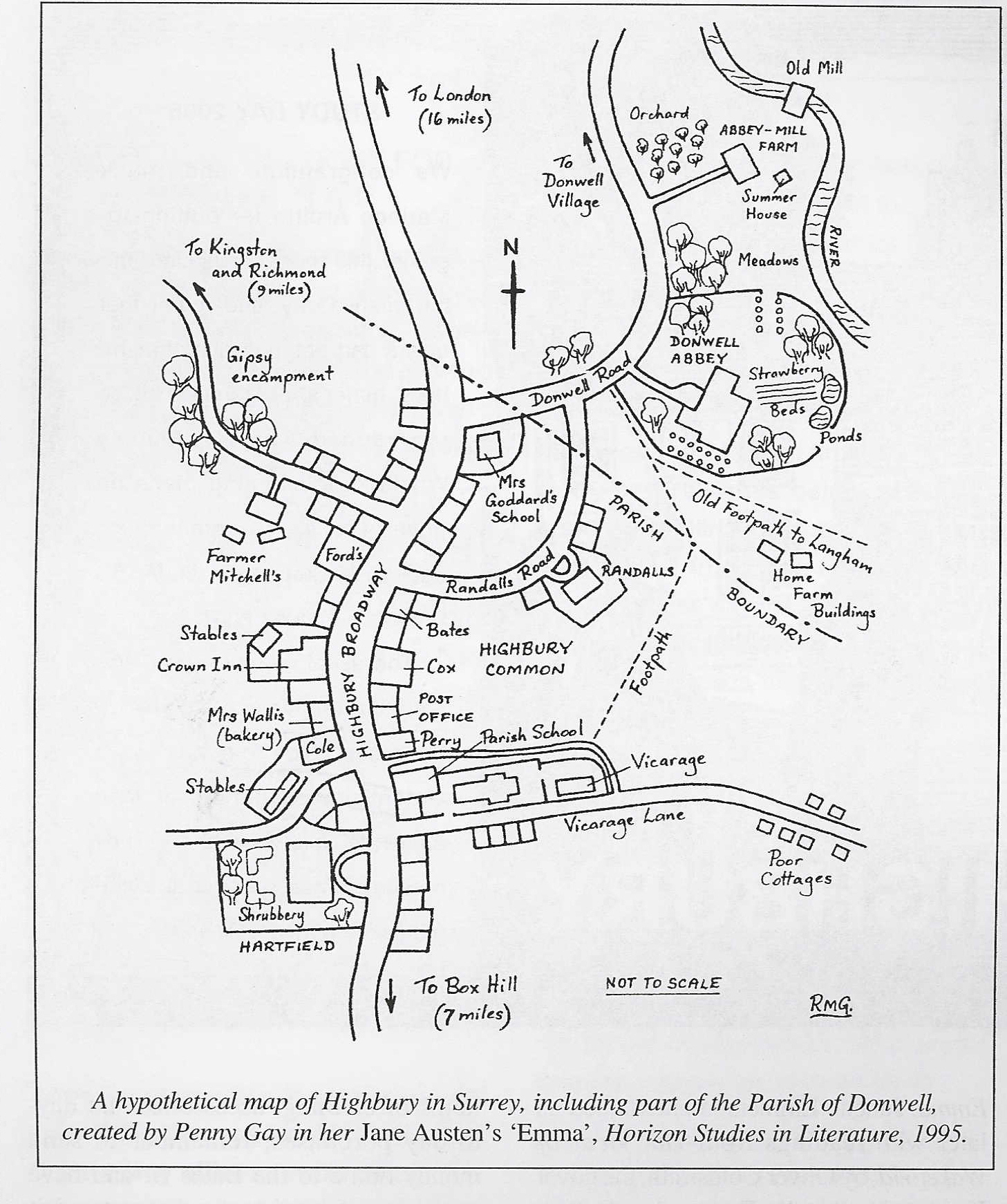 penny gay map of highbury click on image to see larger version